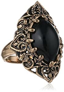 """Barse """"Guinevere"""" Onyx Ring, Size 6"""