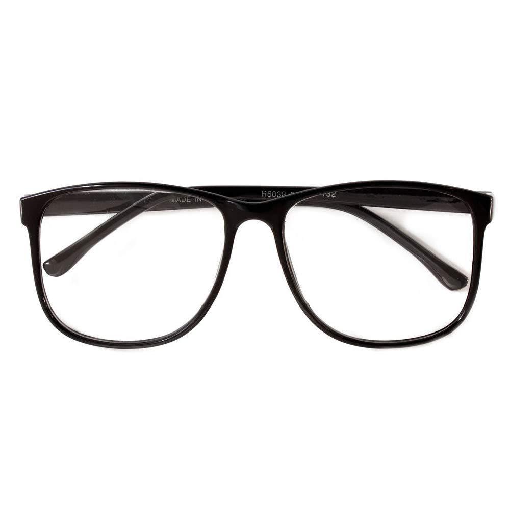 Large Oversized Vintage Glasses READING Clear Lens Thin Frame Nerd Glasses Gee