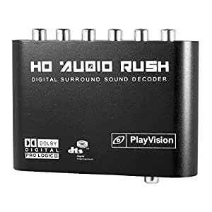 Decodificador de Sonido Digital Dolby DTS AC3 Optico a 5.1