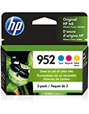 HP 952 | 3 Ink Cartridges | Cyan, Magenta, Yellow | Works with HP OfficeJet Pro 7700 Series, 8200 Series, 8700 Series | L0S49AN, L0S52AN, L0S55AN