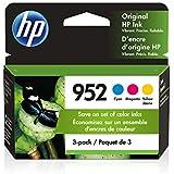 HP 952   3 Ink Cartridges   Cyan, Magenta, Yellow   L0S49AN, L0S52AN, L0S55AN