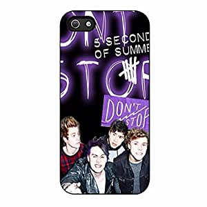 5 Seconds of Summer Case for Iphone 5/5s Case (Black Plastic)