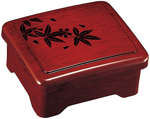 Fukui Craft Moonlight Don & Ju Box-Goto Coating Maple 3.1 X 6.6 X 5.6 by Fukui Craft
