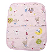 LAYs Baby Diaper Changing Pad Cover Urine Mat Cotton,Waterproof,Portable,Large (1pc, Pink)