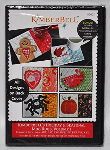 (Kimberbell's Holiday & Seasonal Mug Rugs, Volume 1 Embroidery CD)