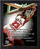 "Michael Jordan Chicago Bulls NBA ProQuotes Photo (Size: 9"" x 11"") Framed"