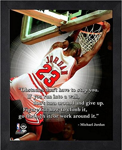 Michael Jordan Chicago Bulls NBA ProQuotes Photo (Size: 9'' x 11'') Framed by NBA