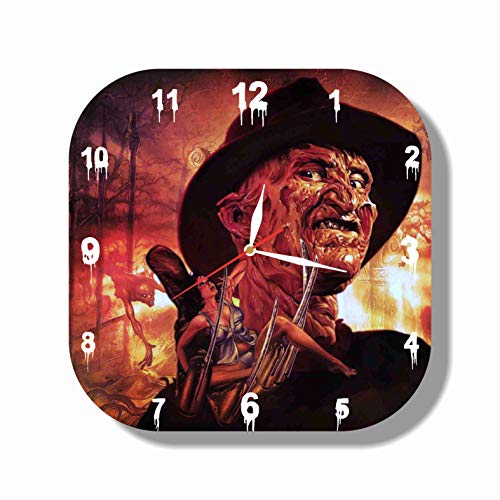 HANDMADE ART WALL CLOCK Freddy Krueger - 11.8 Unique Design - BE Special - The Best Gift