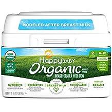 [Patrocinado] Happy Baby Organic Infant Formula Milk Based Powder with Iron Stage 2, 21 Ounce