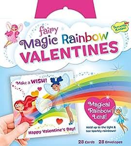 Peaceable Kingdom Fairy Magic Rainbow Lens Super Valentines Card Pack
