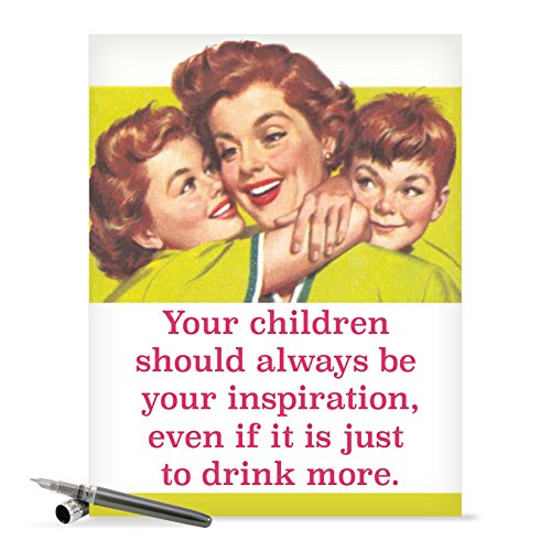 J0228 Jumbo Funny Mother's Day Card: Drink More With Envelope (Extra Large Version: 8.5'' x 11'')