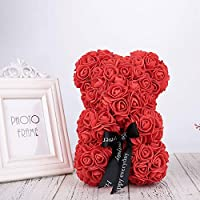 Auntwhale The Rose Teddy Bear Artificial Forever Rose, Anniversary Christmas Valentines Gift, Suitable for Lover Girlfriend Lovely Cartoon Gift