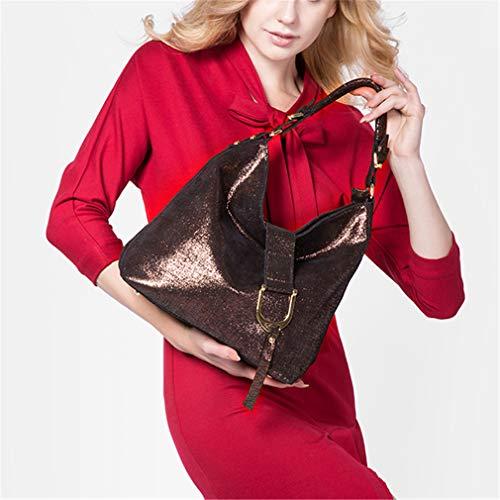 Brown Anti Sacs Pour Main Red À Femme Cuir En silver wqRxgRAB