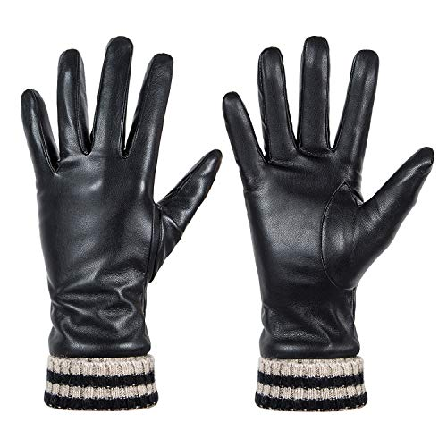Womens Winter Leather Touchscreen Texting Warm Driving Gloves by - Winter Accessories Fall