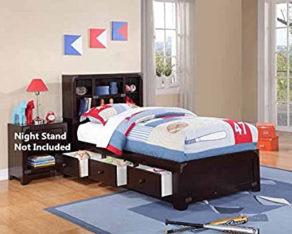 Amazoncom Brand New 13pc Slats Twin Size Bed In Espresso Finish
