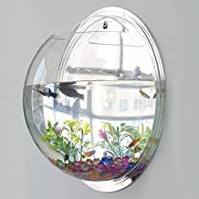 Wall Mounted Acrylic Fish Bowl Creative Hanging Tank Transparent Bubble Aquarium Plant Pot Home Decoration