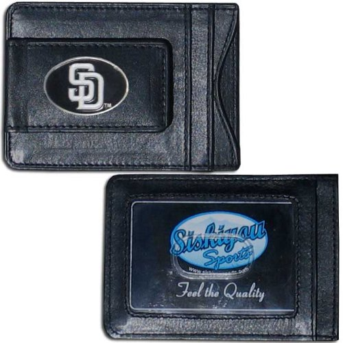MLB San Diego Padres Leather Cash and Card Holder