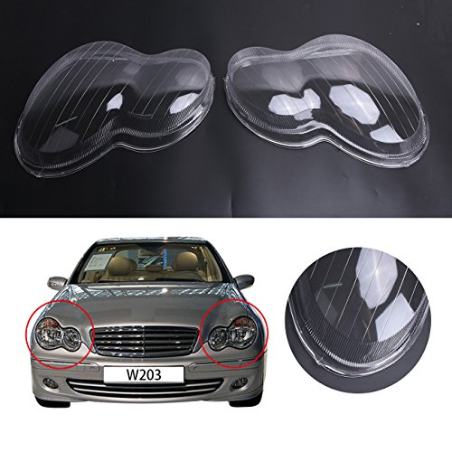 General Mega Headlight Lens Plastic Shell Cover For Mercedes Benz W203 C-Class C230 C280 C350 2001-2007 Polycarbonate ()