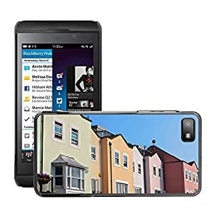 Hot Style Cell Phone PC Hard Case Cover // M00171053 Row Houses Housing Houses Homes // BlackBerry Z10
