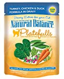 Natural Balance 3-Ounce Platefulls Turkey, Chicken and Duck Formula in Gravy Entree for Cats, Pack of 24, My Pet Supplies