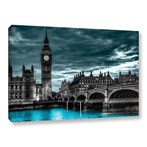 ArtWall Revolver Ocelot 'London' Gallery-Wrapped Canvas Artwork, 24 by 36-Inch from ArtWall