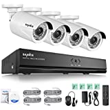 SANNCE 8Ch 1080P Network POE Video Security System with Four 2-Megapixel (1920 x 1080P) Outdoor Bullet IP Cameras, 100ft Night Vision, HDD Not Included