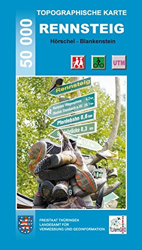 Topographische Karten Thüringen, Rennsteig, 5 Bl. (Topographische Karten Thüringen - Freizeit- und Wanderkarten 1:50000)