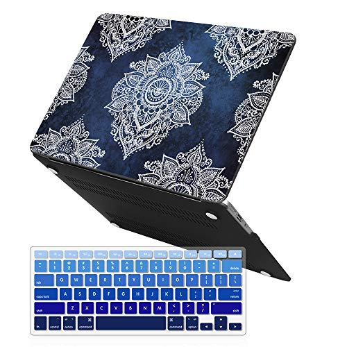 Sumplee MacBook Pro 13 Retina Case, Ultra Thin Rubber Coated Hard Shell Protective Case + Keyboard Cover Compatible MacBook Pro 13 inch Retina Model A1425 A1502 (Paisley Pattern)