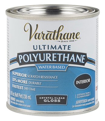 Varathane 200061H 1/2 Pt Gls Interior Water-Based Diamond Polyurethane Finish®