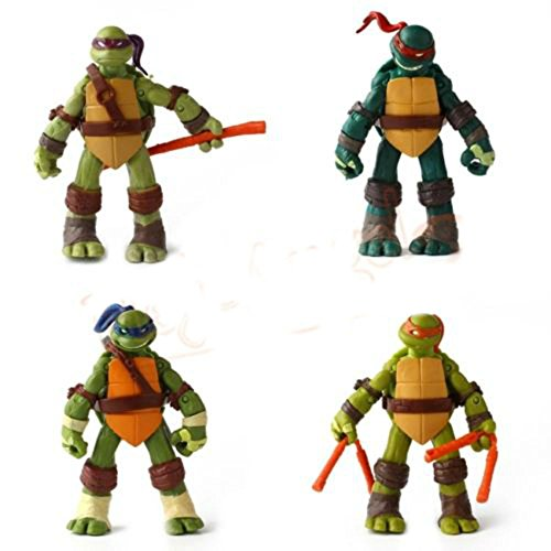 5'' Teenage Mutant Ninja Turtles Classic Collection TMNT Figures Toys 4 Pcs/Set (Original Batman Suit)