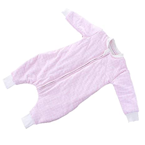 Gleecare Saco de Dormir para bebé,Algodón bebé Arrastre Vestido piernas tamaño Respirable cómodo Saco