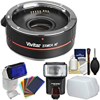 Vivitar Series 1 2x 4 Elements Teleconverter with Flash + Diffuser + Flash Filters + Kit for Canon EOS Digital SLR Cameras