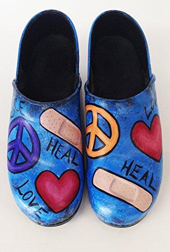 Love, Peace, Heal Dansko Professional Clog by Hourglass Footwear