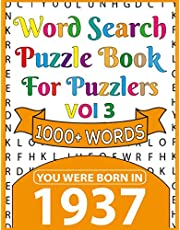 Word Search Puzzle Book For Puzzlers: You Were Born In 1937: Word Search Book for Adults Large Print with Solutions of Puzzles