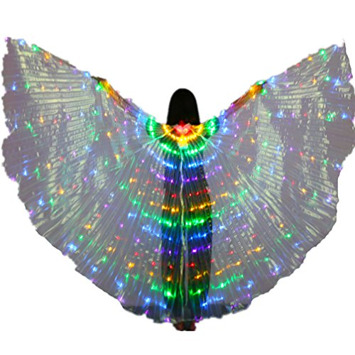 Halloween Luminous Angel LED Belly Dance Isis Wings Costumes Prop(Mixed (Led Halloween Costumes Buy)