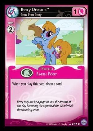 My Little Pony CCG - Berry Dreams, Pom-Pom Pony (F17) - Premiere Edition by My Little Pony [並行輸入品] B01LW9HXNJ