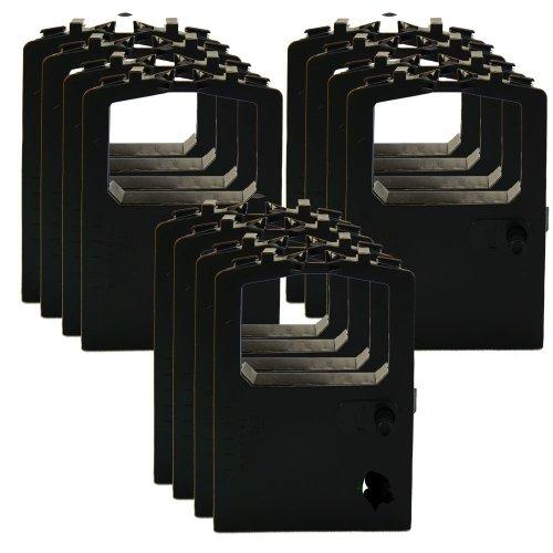 12 Pack Ink Ribbon Replacement for Okidata 320 420 Turbo 52102001 52104001 (12-pk, Black)