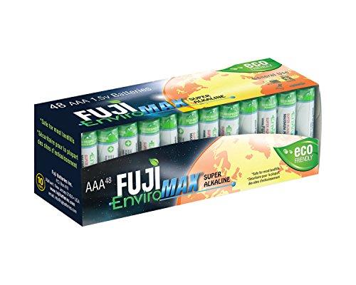 Fuji EnviroMAX Super Alkaline AAA Eco Friendly Batteries (Pack of 48)