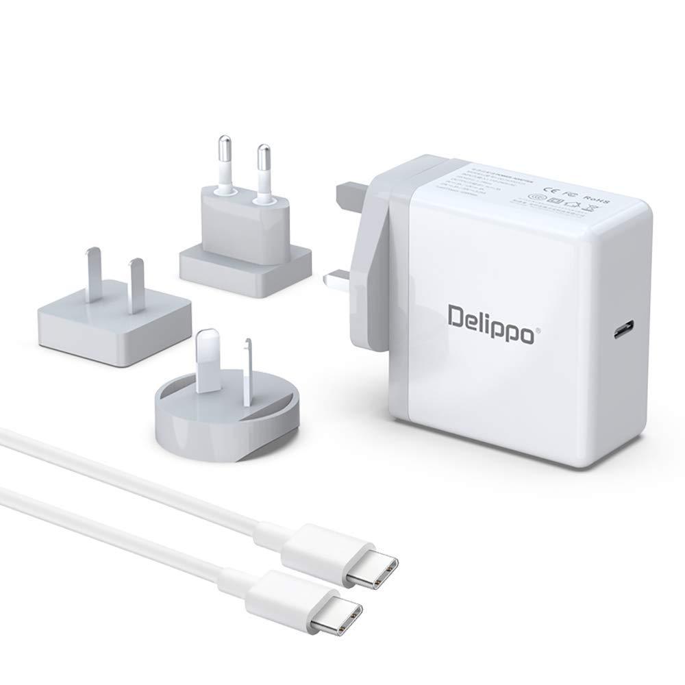 Delippo 65w Type USB C PD 3.0 Cargador portátil Adaptador ...
