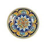 Hand Painted Italian Ceramic Geometric Salad Plate D - Handmade in Deruta