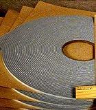 """SSP Gray Door Sound Proofing Tape 1/4"""" to 1/2"""" widths (25 ft- 1/4"""" wide)"""