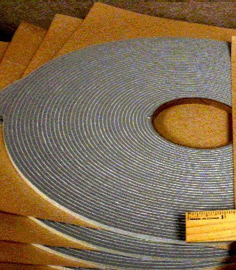 "SSP Gray Door Sound Proofing Tape 1/4"" to 1/2"" widths (75..."