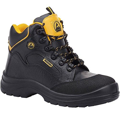 Paredes SP5017NE47rodio ESD zapatos de seguridad S3talla 47NEGRO/AMARILLO
