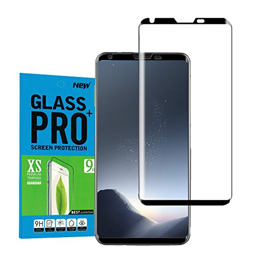 For LG V30 Screen Protector [Case Friendly], Jyline 3D Curved Tempered Glass Screen Protector[Full Coverage] [Bubble Free ][Scratch Resistant] Ultra Clear for LG V30