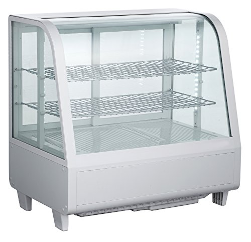 EQ White Countertop Refrigerated Display Case Showcase, (Refrigerated Bakery Display Case)