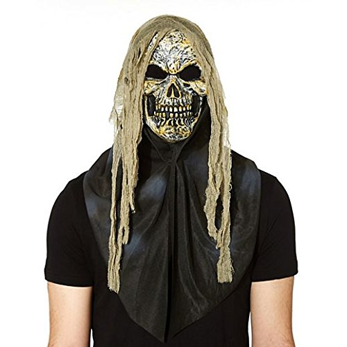 Costume Beautiful Gauze Skull Mask