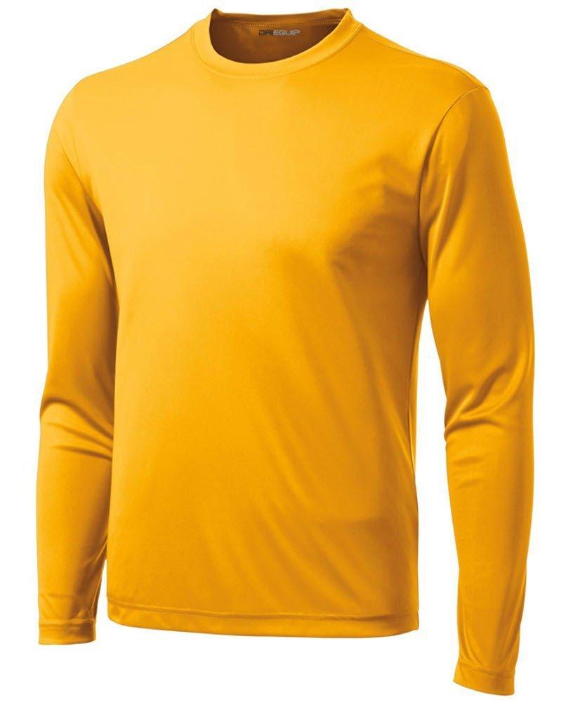 DRI-EQUIP Long Sleeve Moisture Wicking Athletic Shirts USAL71714352