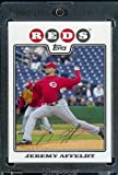 Jeremy Affeldt - Cincinnati Reds - 2008 Topps Updates & Highlights Baseball Card in Protective Screwdown Display Case!
