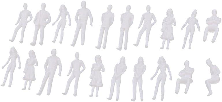 Escala 1:50 Homyl 100pcs Miniaturas Figuras Humanas Personas Modelo para Dise/ños de Paisajes Ferroviarios