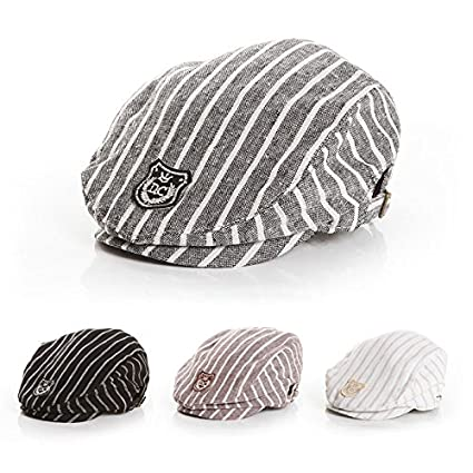 Buy Generic Coffee   Hot Sell Cotton Baby Beret Cap Adjustable Striped Baby  Boy Hat Accessories for 7-24 Months 1 PC Online at Low Prices in India -  Amazon. ... 61637b03101